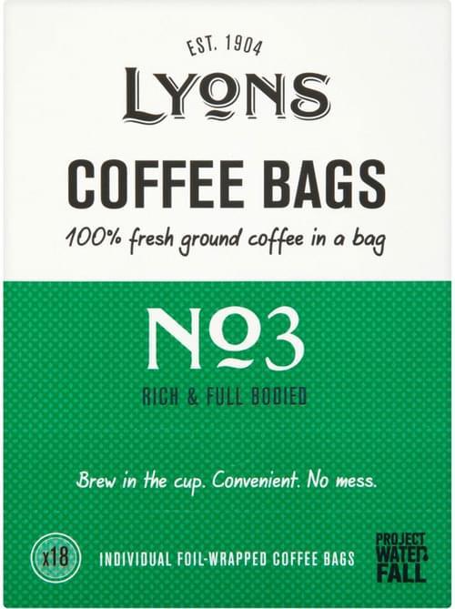 LYONS GREEN COFFEE BAGS 150X7G