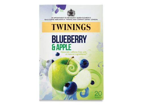 TWININGS BLUEBERRY & APPLE TEABAGS PK20