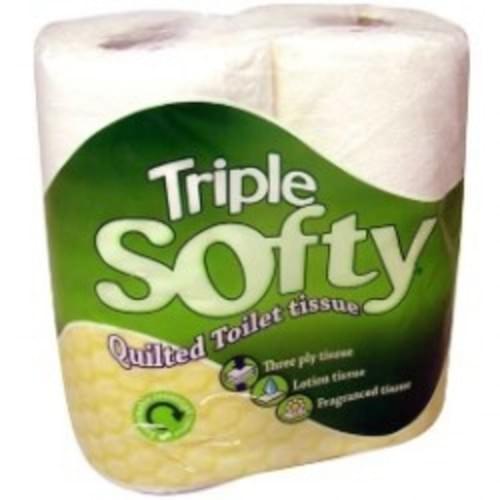 SOFTY 3PLY WHITE TOILET ROLL PK4X10