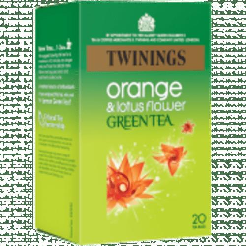 Twinings Infusion Tea Bags Green tea orange and lotus flower