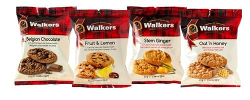 WALKERS MINI PACK ASST BISCUITS PK100