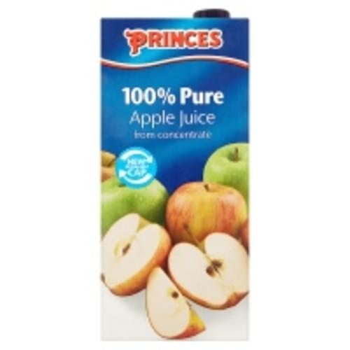 PRINCES PURE APPLE JUICE FROM CONCENTRATE 1 LTR PK12