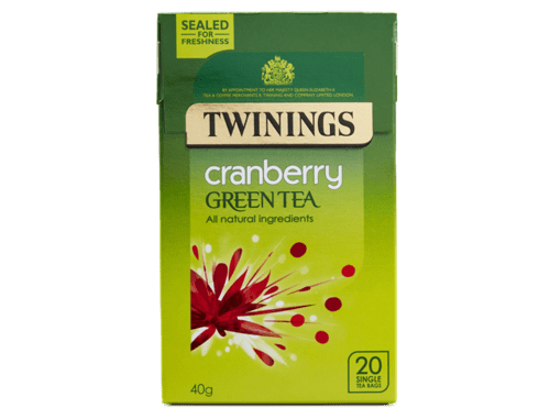 Twinings Cranberry Green Tea - 20 single teabags