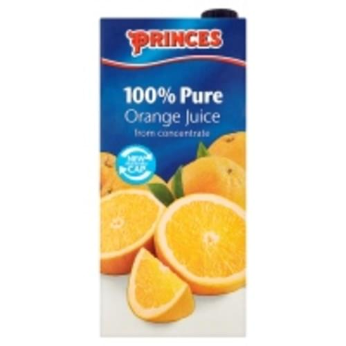 PRINCES PURE ORANGE JUICE FROM CONCENTRATE 1 LTR PK12