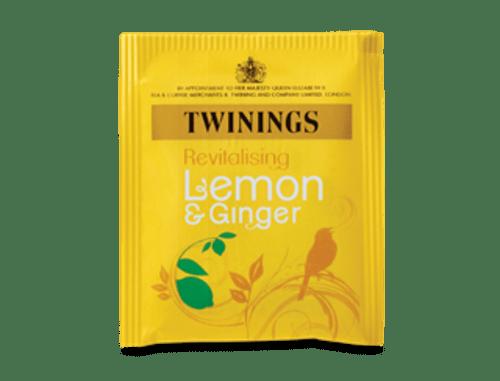 TWININGS LEMON AND GINGER ENV TEABAG EACH