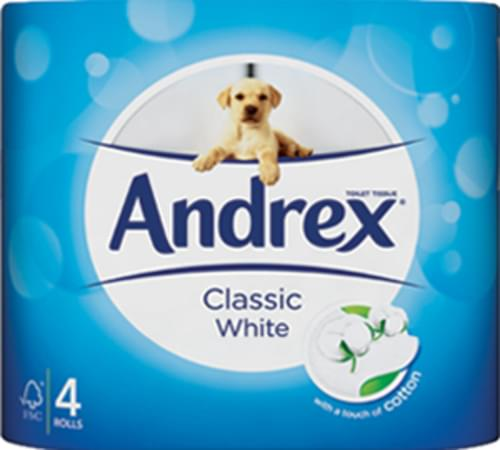 ANDREX TOILET ROLL CLASSIC PK4 X 6