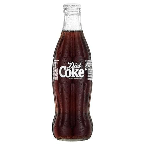 Diet Coke 330ml GLASS BOTTLE PK24