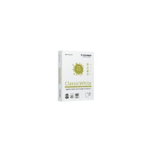STEINBEIS CLASSIC RECYCLED WHITE PAPER A4 80G 500S