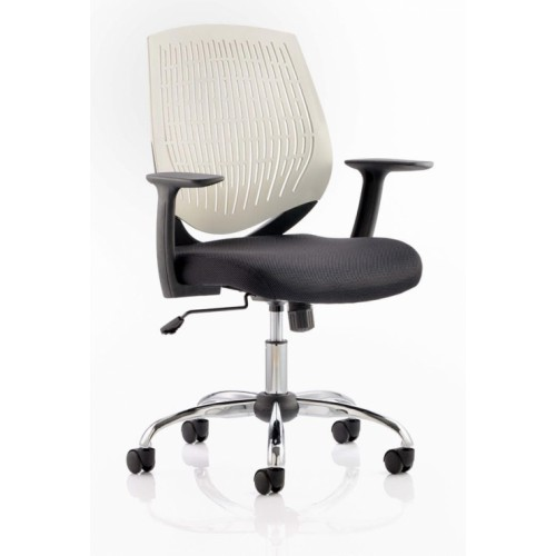 Dura Task Operator Chair White With Arms
