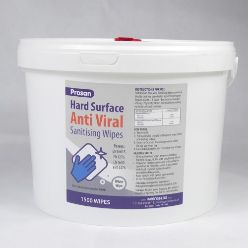 Prosan Anti-Viral  Hard Surface wipes 1500 Bucket
