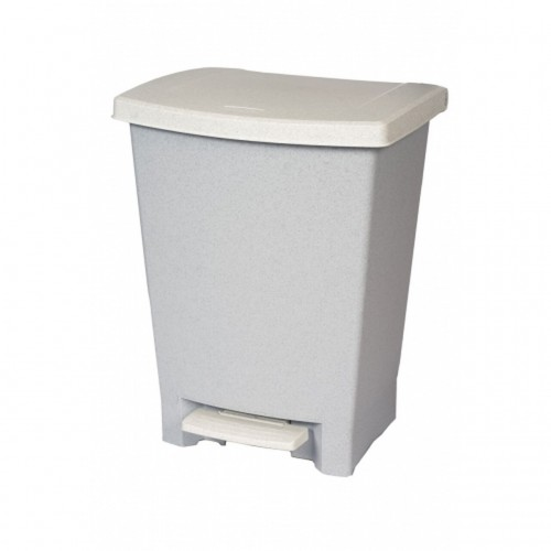 Rubbermaid Pedal Bin 25L Grey with white Lid