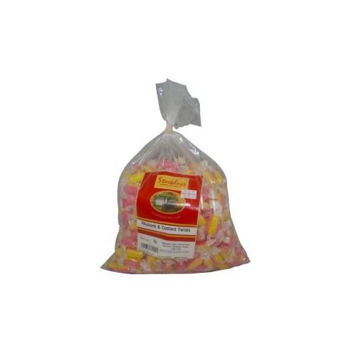 Tilleys Rhubarb & Custard Individually Wrapped 3kg Bag