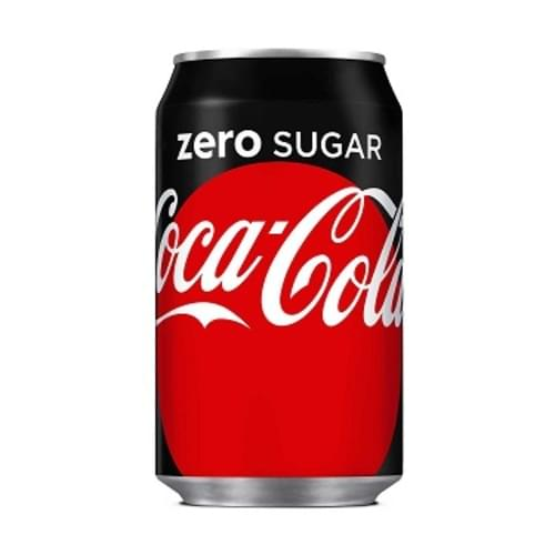 Zero Coke Cola 330ml cans ( Pack 24 )