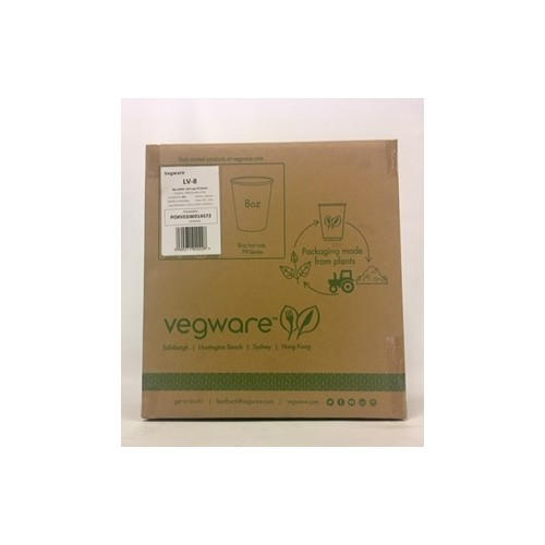 LV-8 8oz Single Wall White Cup PK1000