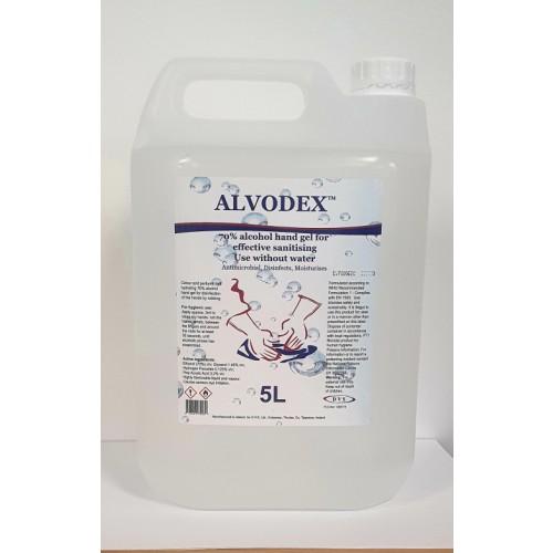 Alvodex 70% Hand Sanitiser Gel  5 Litre Drum