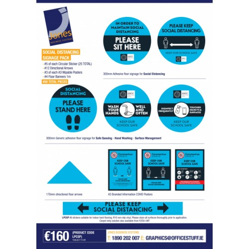 Covid-19 Social Distancing Signage Packs For Educational Sector