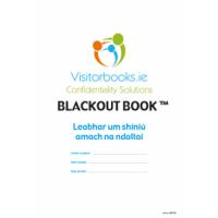 Blackout Book GDPR Compliant Leabhar um Shn Amach na ndalta for gaelscoileanna (850 Names)