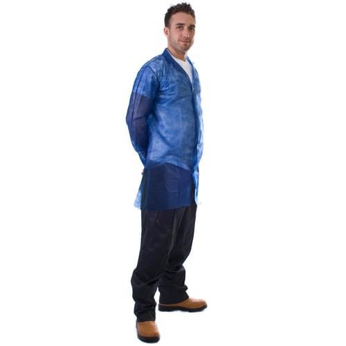 N/W Vis Coat Blue Popper XL