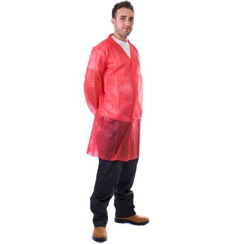 Red N/W Vis Coat Velcro 4XL - 50pieces