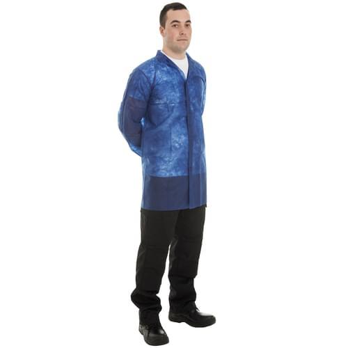 Blue N/W Vis Coat Velcro XXL - 50pieces