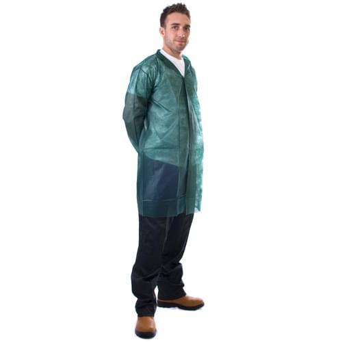 Green N/W Vis Coat Velcro 3XL