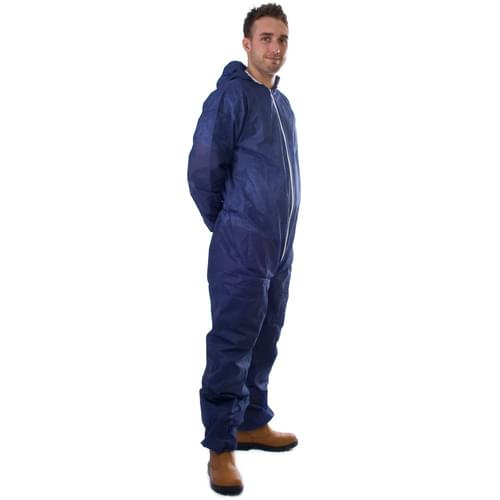 Coverall Non-Wov Blue Large - 50pieces