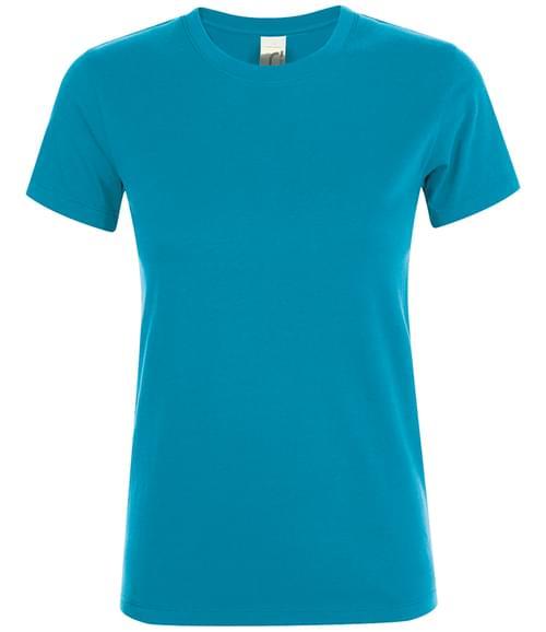 SOLS Lds Regent T-Shirt Aqua Size XXL
