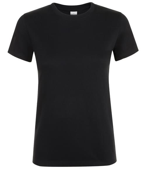 SOLS Lds Regent T-Shirt Deep black Size M
