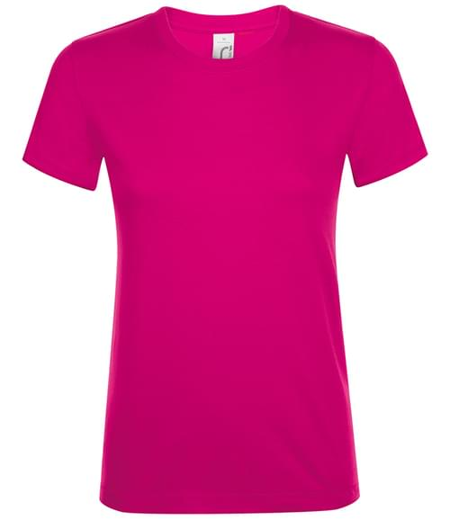 SOLS Lds Regent T-Shirt Fuchsia Size M