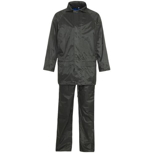 Rainsuit Polyester/pvc 170T Green S 20pieces