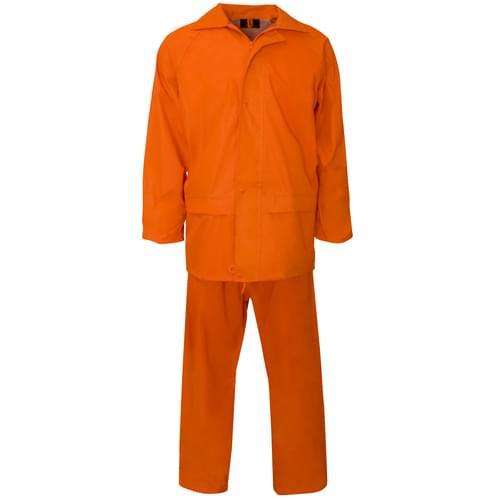 Rainsuit Polyester/pvc 170T Orange XL 20pieces