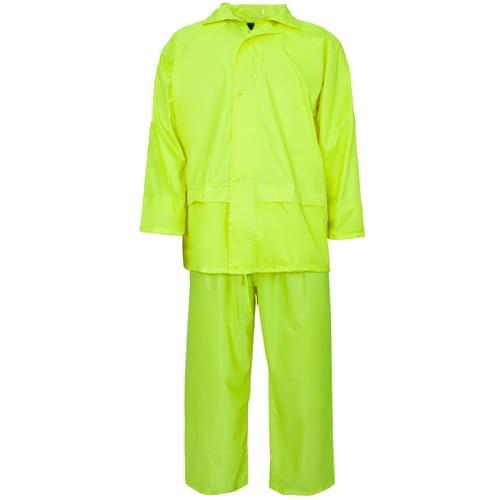 Rainsuit Polyester/pvc 170T Fluo Yellow 4XL 20pieces