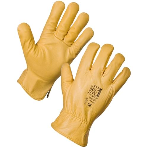 Skin Driving Glove Lined (Mens) Yellow - 10x12 - Size 12