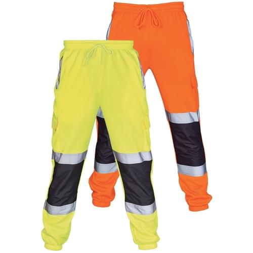 HI VIS 2 TONE JOGGING BOTTOMS ORANGE/NAVY-3XLarge 20Pcs
