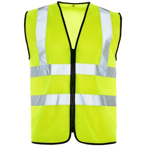 HV Standard Zipped Yellow Vest - 4Xlarge