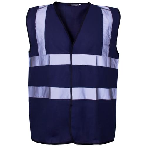 Hi-Vis Vest BLUE Gio 2B C2 2XL - 50pieces