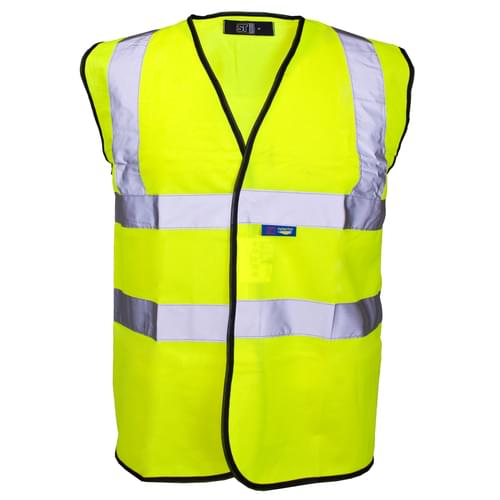 Hi-Vis Vest Yellow and Black Gio 2B C2       LARGE