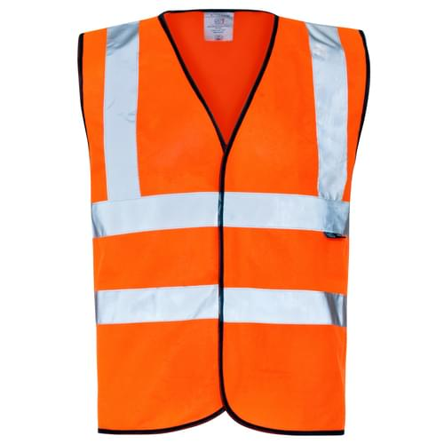 Hi-Vis Vest Or/Bla Gio 2B C2 M - 50pieces