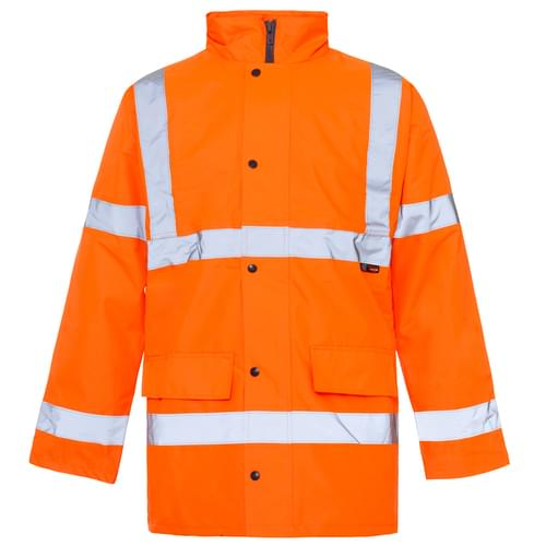 Hi-Vis Jacket Orange Std  3XL - 10pieces
