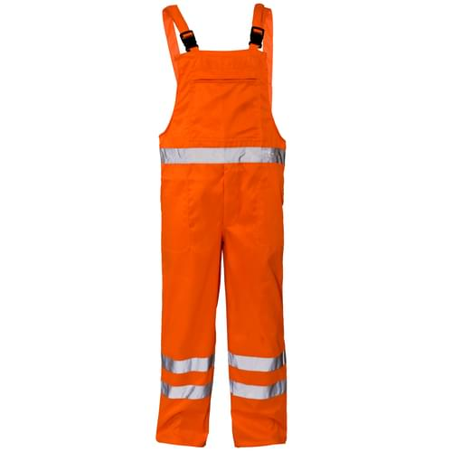 Hi Vis BIB & BRACE TROUSER ORANGE EN471 C2 GO/RT 3279  -S 10PCS