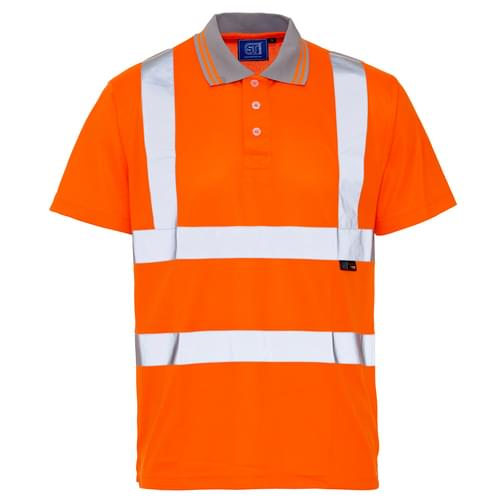 HV Polo Shirt Orange BirdEye Std Tape - 150gsm - XL