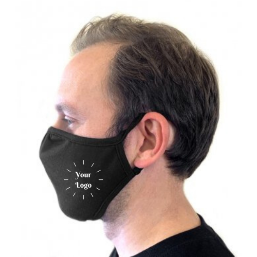 BRANDED Next Level Eco Performance Face Mask Black pack 48