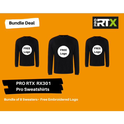 8 Sweatshirts + Your Logo Bundle Deal
