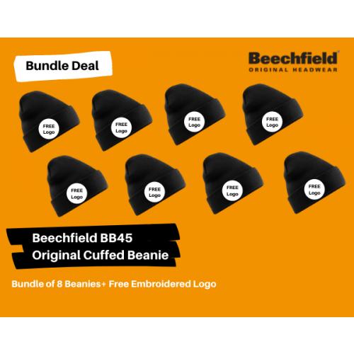8 Beanies + Your Logo Bundle Deal