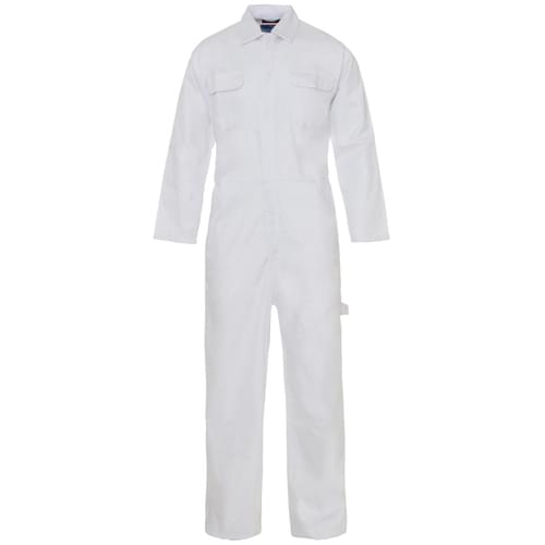 Poly Cotton Coverall White 210gms- 3XL