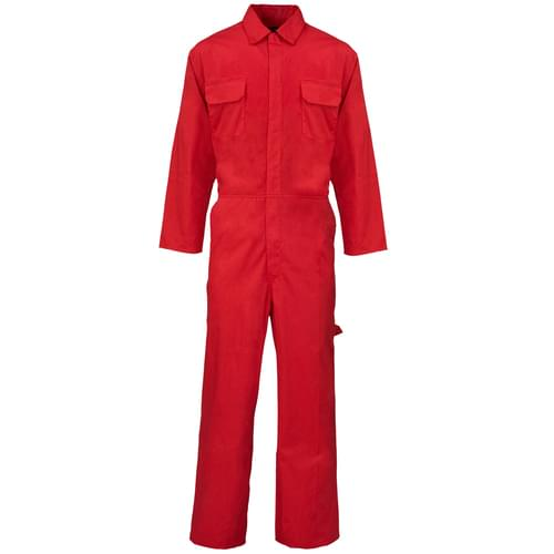 Poly Cotton Coverall  Red 210gms- 3XL