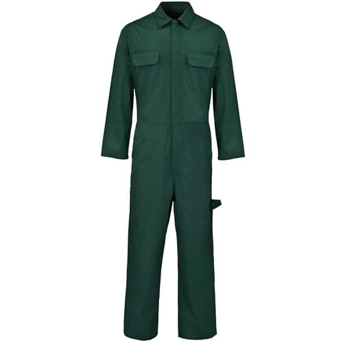 Poly Cotton Coverall  B/Green 210gms- S