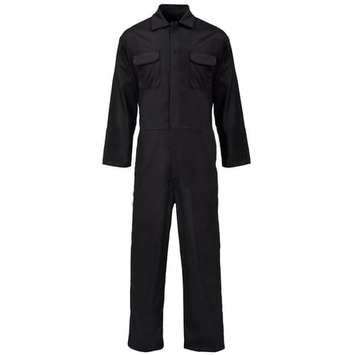 Poly Cotton Coverall black 210gms- M