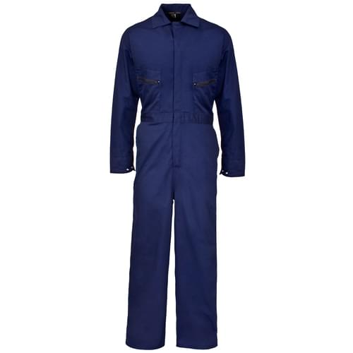 Poly Cotton Coverall PLUS 240gms Navy Blue - 4XL