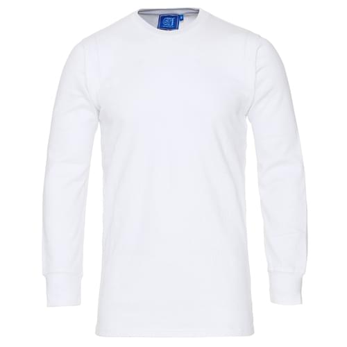 Thermal L/S polycotton 170gsm White - Small